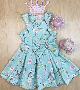Vestido Infantil Menina Flor de Mel - Kiki Xodó