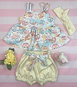 Conjunto Infantil Menina Bichinhos - Kiki Xodó
