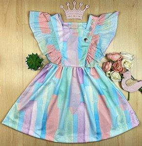 Vestido Infantil Menina a Colorida - Kiki xodó