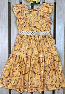 Vestido Infantil Menina Flores - Kiki Xodó