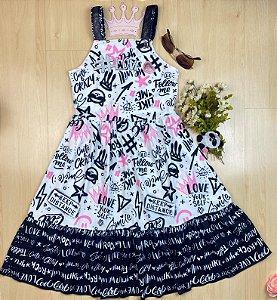 Vestido Infantil Menina Rock - Kiki Xodó
