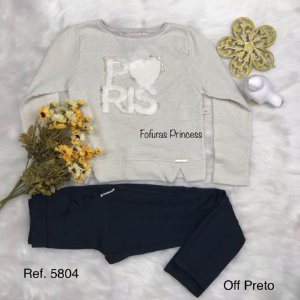 Conjunto Blusa e Calça Paris, Infantil, Kiki Xodó