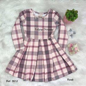 Vestido Infantil, Xadrez - Kiki Xodó