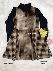Vestido Infantil Xadrez e Blusa - AleKids
