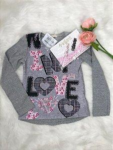 Blusa Infantil Inverno Menina Love - Infanti