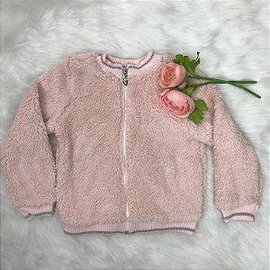 Casaco Infantil Inverno Menina Pelo Rosa - Kukiê