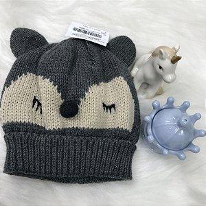 Gorro Ursinho Tricot Inverno Menino