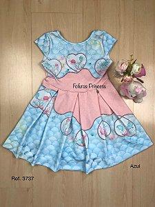 Vestido Infantil Fofurices do Oceano - Kiki Xodó