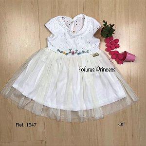 Vestido Infantil em Laise e Tule - Kiki Xodó