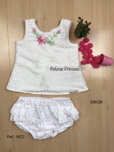 Conjunto Infantil Laise em Flores - KIki Xodó