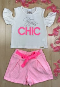Conjunto Verão Infantil Chic Pink - AleKids