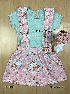 Vestido Salopete Infantil Babadinho - Kiki Xodó