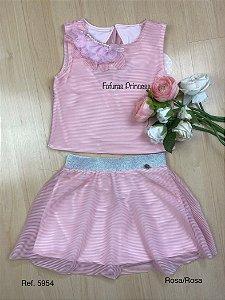 Conjunto Infantil Flores Voal - Kiki Xodó