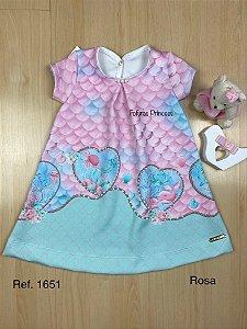 Vestido Infantil Encantos do Mar - Kiki Xodó