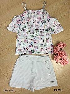 Conjunto Infantil Verão Princesas do Sol - Kiki Xodó