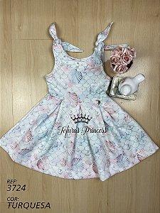 Vestido infantil Fundo do Mar - Kiki Xodó
