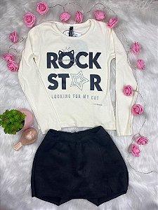 Conjunto Infantil Menina Gatinha Rock - Lilimoon
