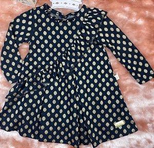 Vestido Infantil Menina Poá de Babados - Kiki Xodó