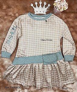 Vestido Infantil Menina Xadrez Fashion - Kiki Xodó