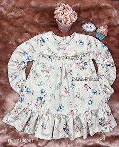 Vestido Infantil Menina Flores Encantadas - Kiki Xodó