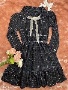 Vestido Infantil Menina Chique - Kiki Xodó
