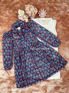 Vestido Infantil Menina Colors e Laços - Alekids