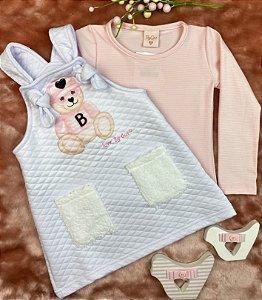 Vestido Infantil Menina Baby Ursinhos - ByGus
