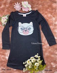 Vestido Infantil Menina Gatinha - ByGus