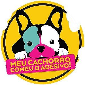 Adesivo ''Meu cachorro comeu o adesivo!'' Amarelo