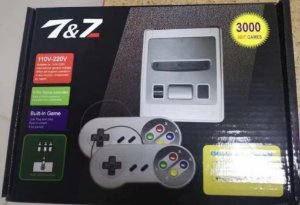 Mini Video Game classico 2 Controles 300 jogos diferentes anos 80 e 90