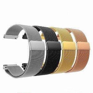 Pulseira Metalica 20mm - diversas cores