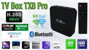 Smart Tv Box Tv Box Tx8 Pro 4k 2GB Ram 16GB Rom S905w Quad core ARM Cortex-A53 2.02 GHz