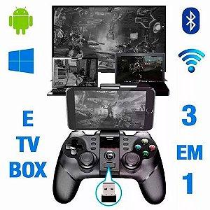 Controle Joystick Bluetooth Ipega Pg-9076 Pc, Ps3, Box, Cel