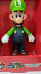 Boneco Luigi -grande Super Mario Collection Figure 25 Cm
