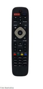 CONTROLE REMOTO TV SMART PHILIPS C/NETFLIX 8076