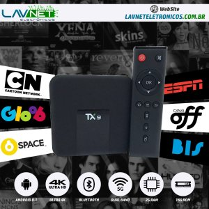 CONVERSOR SMART TX9 OCTA CORE DUAL BAND 5G BLUETOOTH