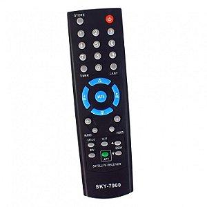 Controle Receptor Visiontec VT 700 VT 1000 VT 2000 Slim Preto Sky-7900