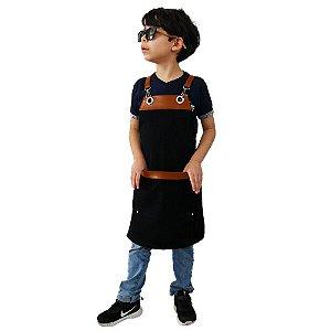 Avental em Sarja preto modelo Onza infantil