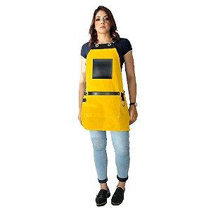 Avental em Sarja amarelo modelo Avodah feminino