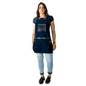 Avental em Sarja azul modelo Avodah feminino