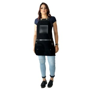 Avental em Sarja preto modelo Avodah feminino