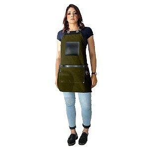 Avental em Sarja verde modelo Avodah feminino