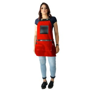 Avental em Sarja vermelho modelo Avodah feminino