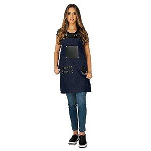 Avental em Jeans modelo Churrasqueiro feminino