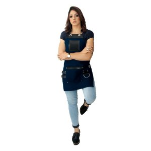 Avental em Sarja azul modelo King feminino