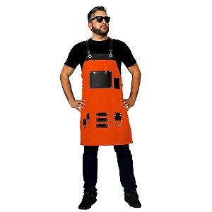 Avental em sarja modelo Levoke laranja