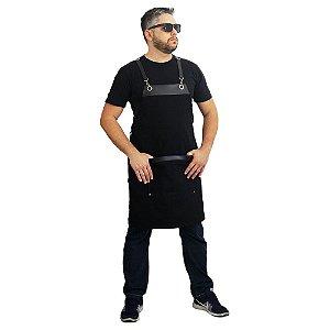 Avental em sarja modelo onza preto