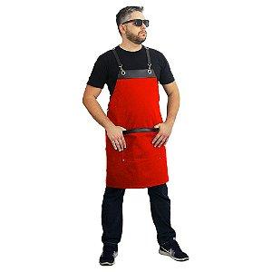 Avental em sarja modelo onza vermelho