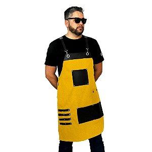 Avental em sarja modelo premium amarelo
