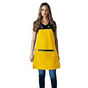 Avental em Sarja amarelo modelo Onza feminino